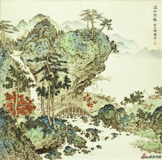谢萌作品《溪山行旅》2014