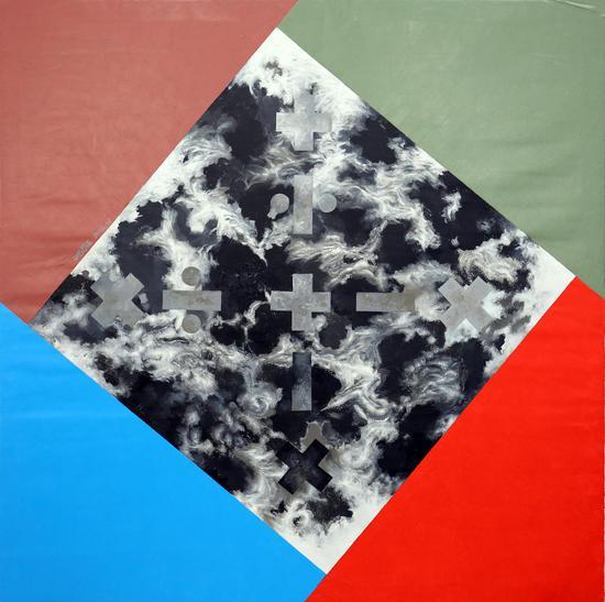 《风烟故事》(局部-5) 150×150cm 布面丙烯 2016