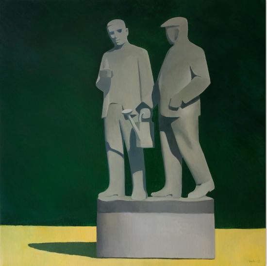 两个的童话家150x150cm 布面油画 2015