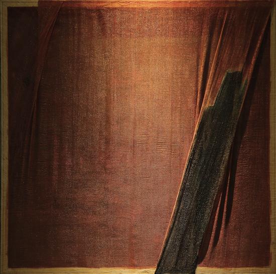 《折·4》139×139 大漆、苎麻 2018