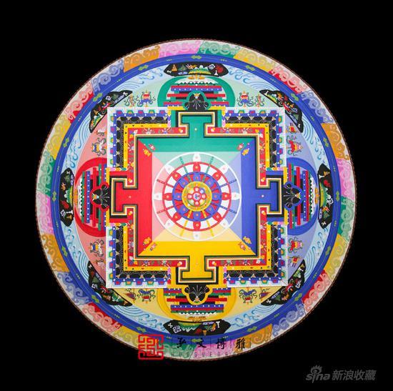 坛城沙画在北京展出