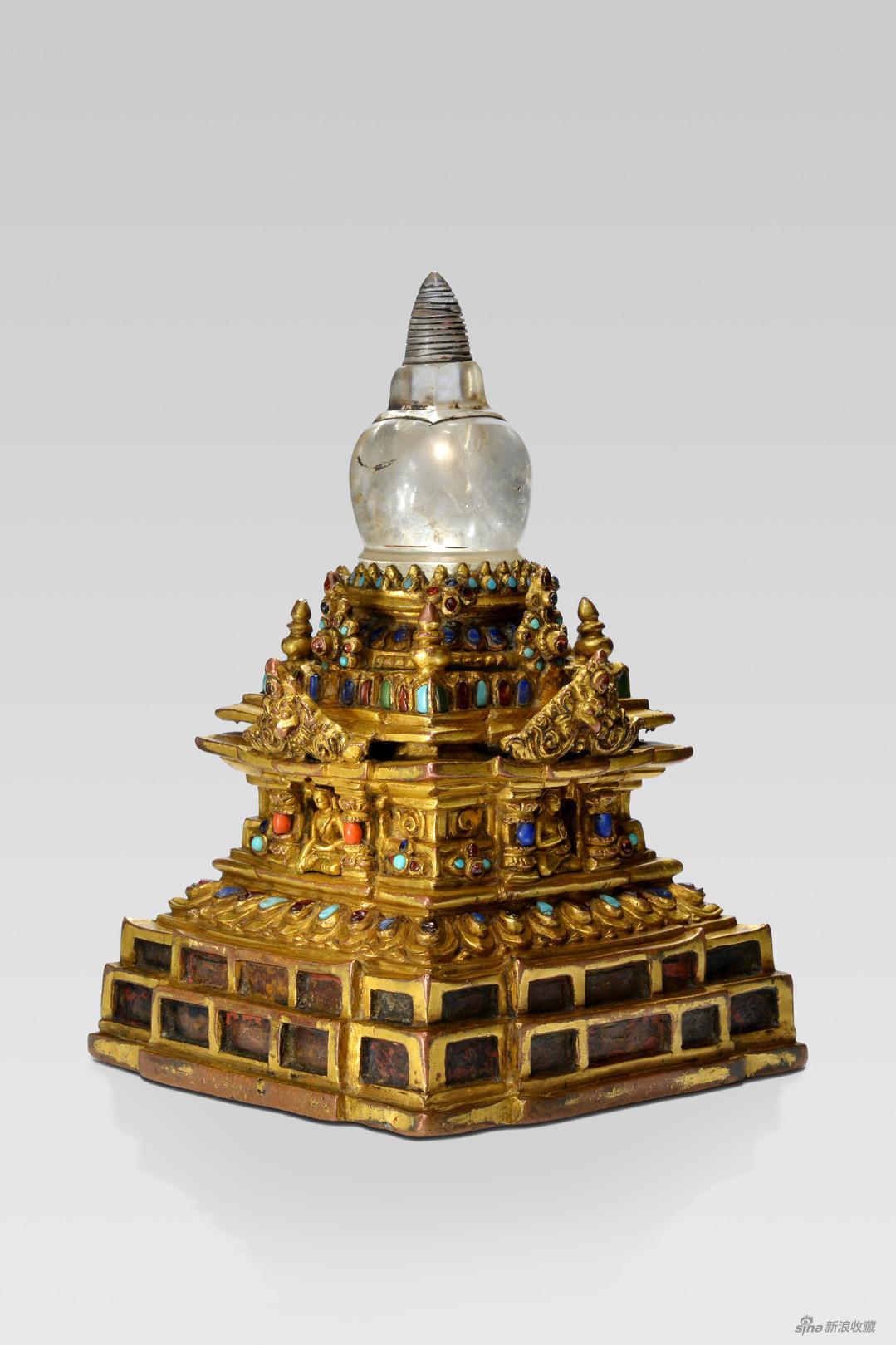 《嵌宝石舍利塔》,供器,来自魑魅魍魉甲子