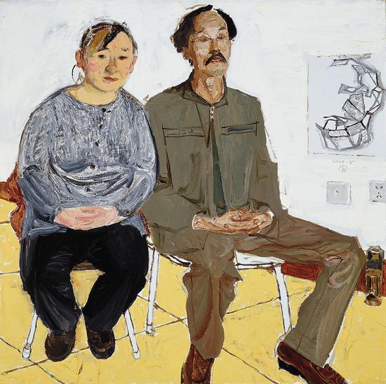 11《夫妻美术班》戴士和 80cm×80cm 布面油画 2010年
