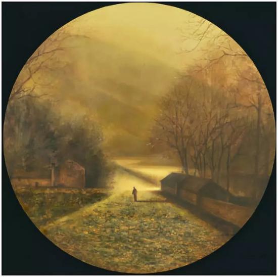 《金硕》 油画 80cm×80cm(圆形) 2017年