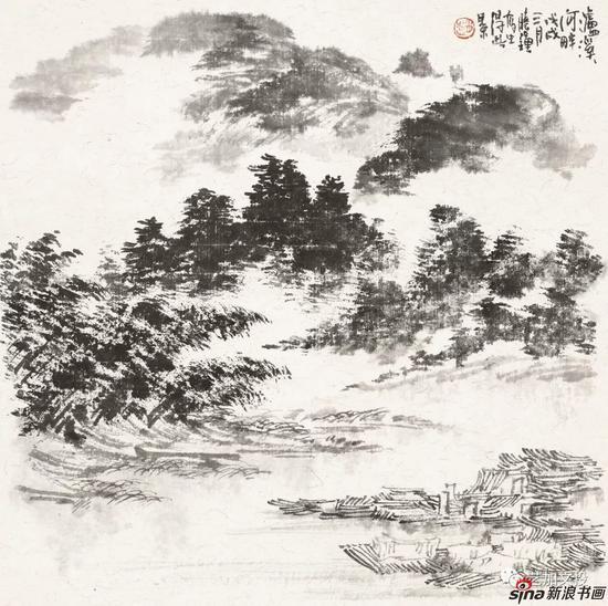 赵晓钟《龙虎山行旅之七》41cm×41cm 2018年