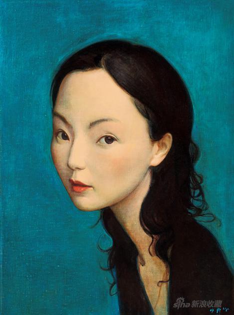 刘野 LIU YE (B.1964)M 的肖像 2007 年作 布面丙烯 60 × 45 cm