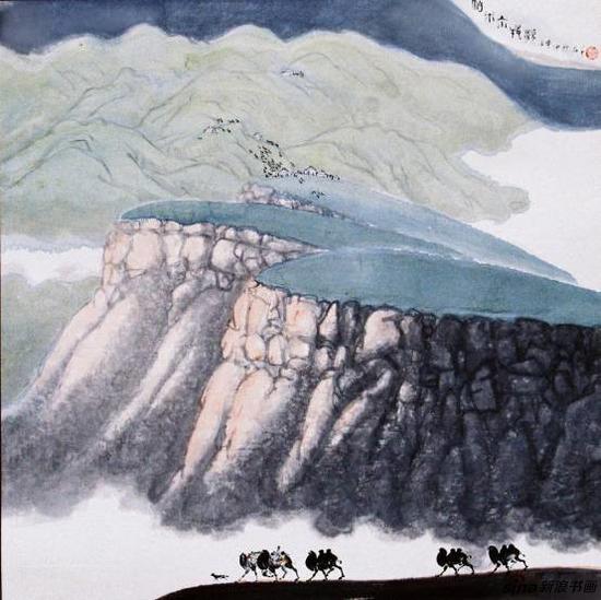 黄名芊《帕米尔牧歌》68x68cm