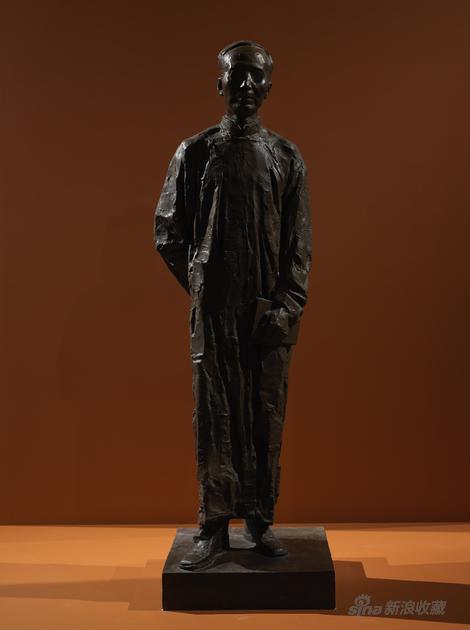 郭沫若2001-190x57x57cm青铜