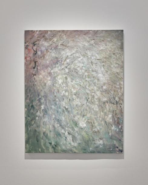 何多苓-雜花寫生5-布面油畫-100X80cm-2020