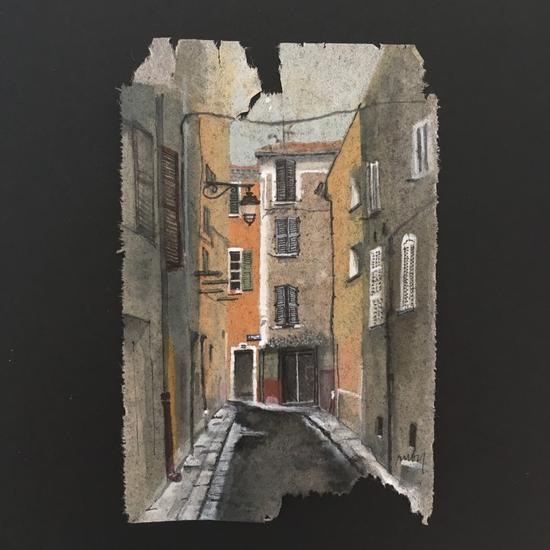 在法国蔚蓝海岸小住时,西尔维乌曾穿过这条位于耶尔的小巷。