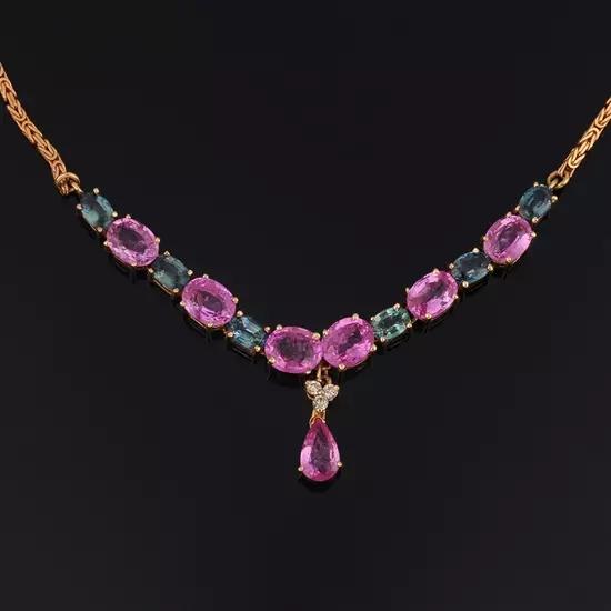 1970年代 蓝宝石项链