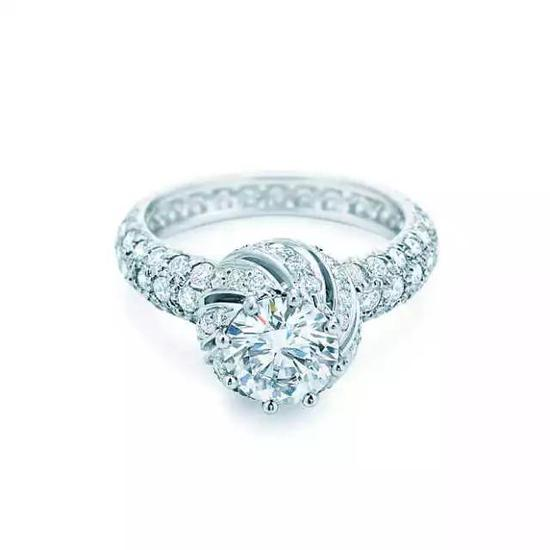 Tiffany & Co。 Schlumberger 系列 铂金钻戒