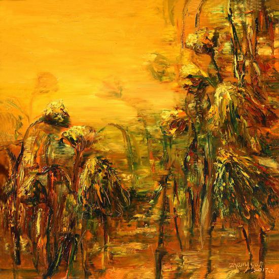 金色交响 布面油画 80cm x 80cm