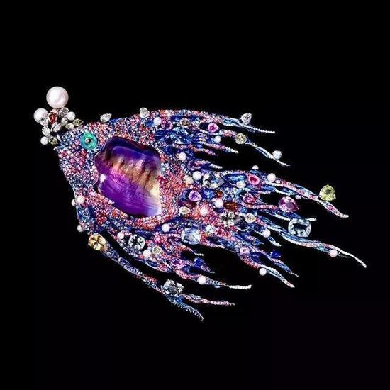 Wallace Chan 高级珠宝 鱼儿的梦胸针