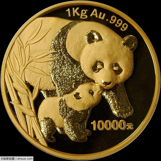 2004年熊猫纪念1公斤金币