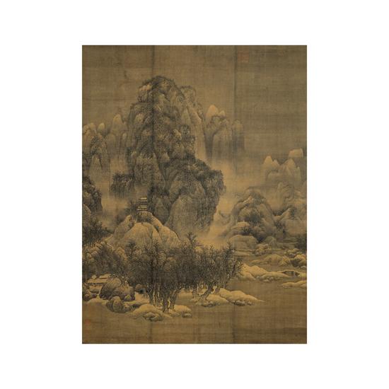宋·范宽·雪景寒林图轴