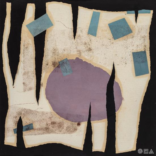 《裂隙 No.3》 综合材料 纸本 49×49cm 1998~2001