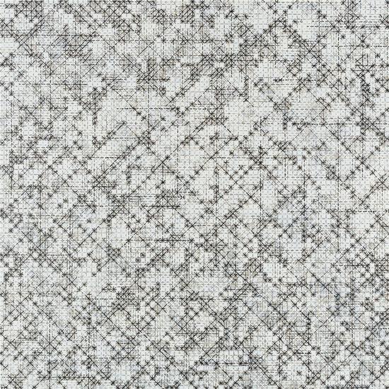 丁乙,《十示 2015-14》,椴木板上丙烯雕刻、彩色铅笔,240×240×6cm,2015