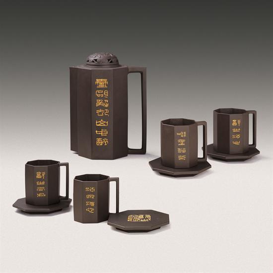 艺术家鲍志强作品 八面来风茶具
