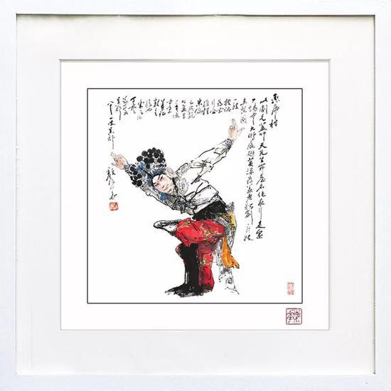 颜梅华 限量盖章版画《大鹏展翅》(外框尺寸:34*34cm)市场价:¥388