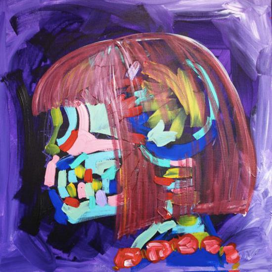 《安娜-玄紫》 布面丙烯 画卷滥觞:天辰21天干