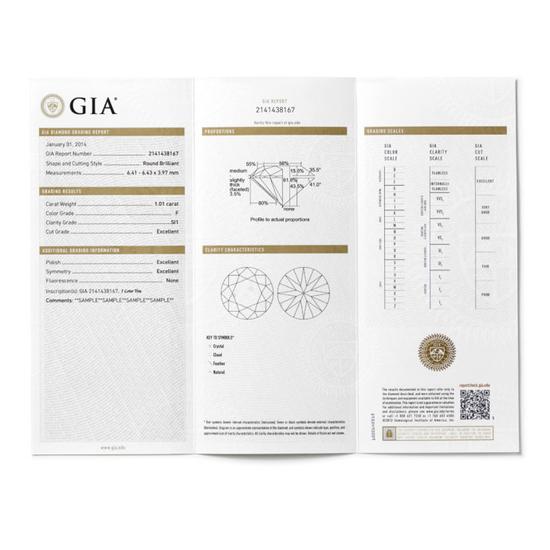 钻石的重量将在GIA钻石鉴定证书的显著位置标明。