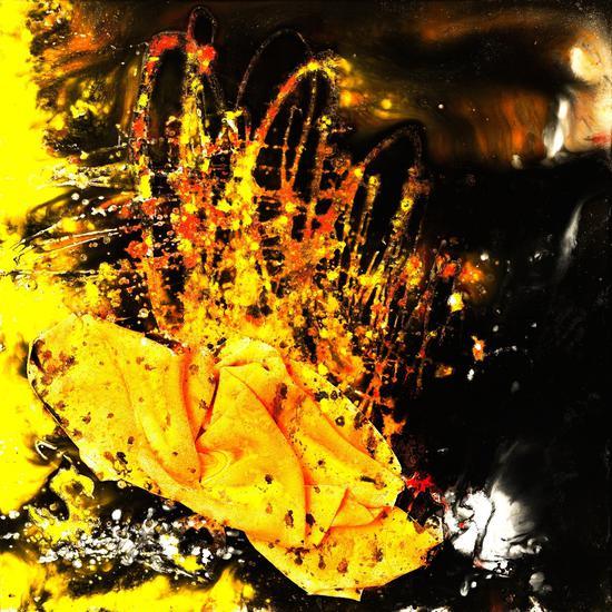瓷板画《化茧成蝶》100cm×100cm