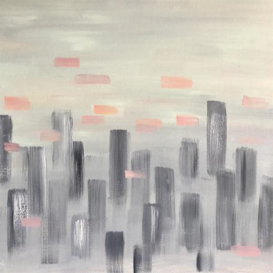 陈天歌《城市森林1(朝)》70×70cm