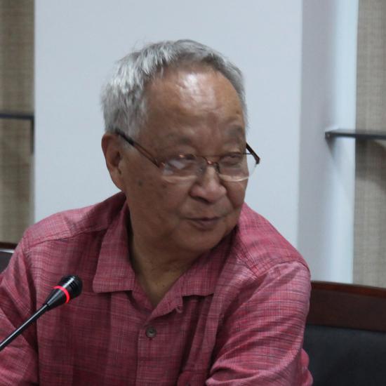 上海代表性抽象艺术家,上海戏剧学院客座教授查国钧发言