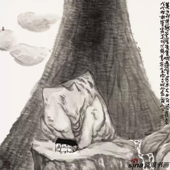 溪山云行 69cm×70cm