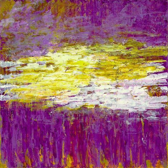 《移动的愿景》布上丙烯 182.88x182.88cm 2015