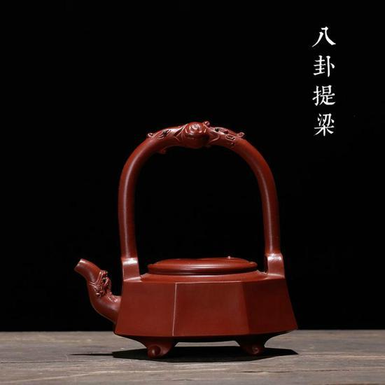 常月红 八卦提梁壶