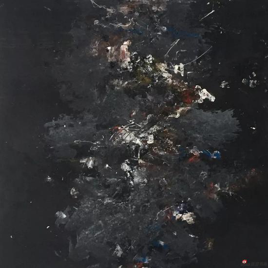 吴林田《无题9》 布面综合材料 100×100cm 2008