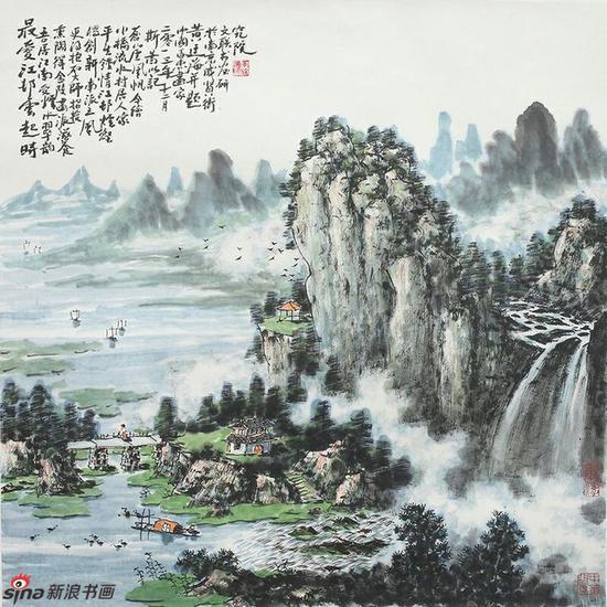 《最爱江邨云起时》,69cmx69cm,2013年,黄廷海作