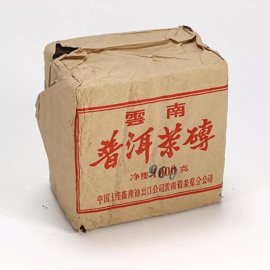 图录号 6003    八十年代中茶枣香普洱茶砖    一组三片(生茶)    重量:一片约300g,共约900g
