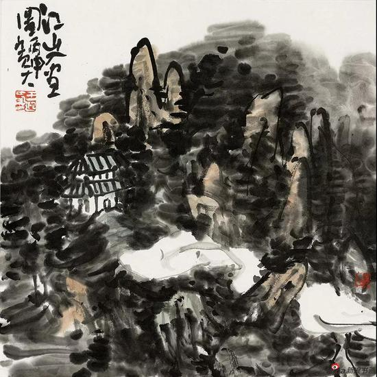 江山入画 34.5cm × 34.5cm 2016