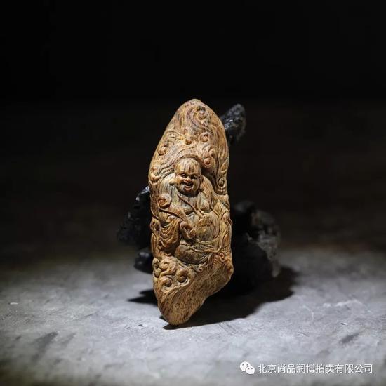03101越南芽庄白奇沉香弥勒佛