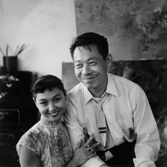 赵无极与第二任妻子陈美琴,1958年5月,香港