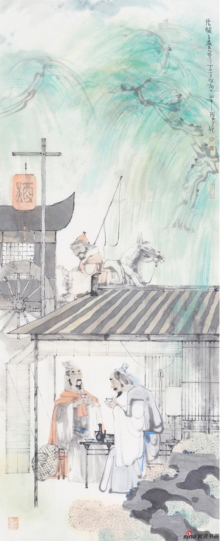 丁筱芳 清平乐7 春归何处(宋·黄庭坚)138x56cm
