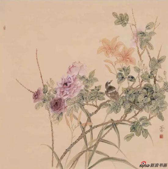 《小园东风》_樊蕾 69cm×69cm