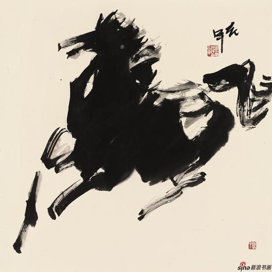 贾浩义-骏马奔驰-69cm-69cm
