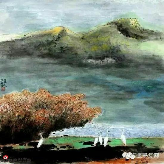 《芦夜》,69cmX69cm,1999年,黄廷海作