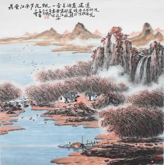 黄廷海最爱江南芦花飘 69x69cm