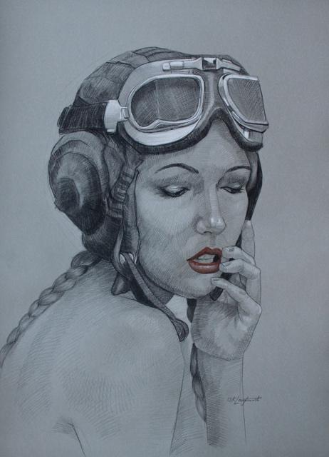 《Ally 3》铅笔、软蜡笔,72 x 92 cm,2013