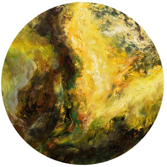 布面油画2107《通道之一》100x100cm