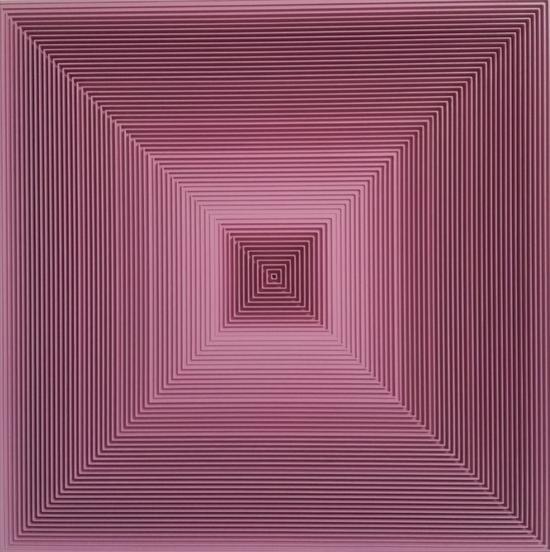 戈子馀-空.间017尺寸55x55,年代2017,材质:综合材料