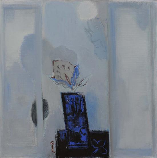 30《中国古意之一》黄菁 80cm×80cm 布面油画 2012年