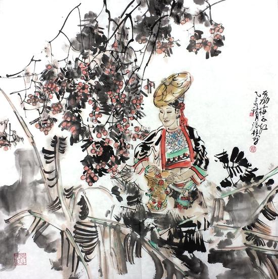 荔枝正红 68X68 2015