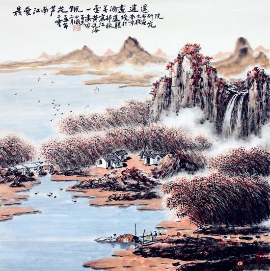 最爱江南芦花飘(69×69厘米,2015年)