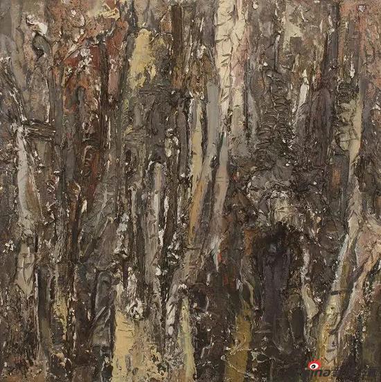 《树》系列之一 30×30cm 油画